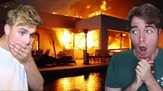 Jake Paul, Shane Dawson, & Other YouTubers EVACUATED From Fire