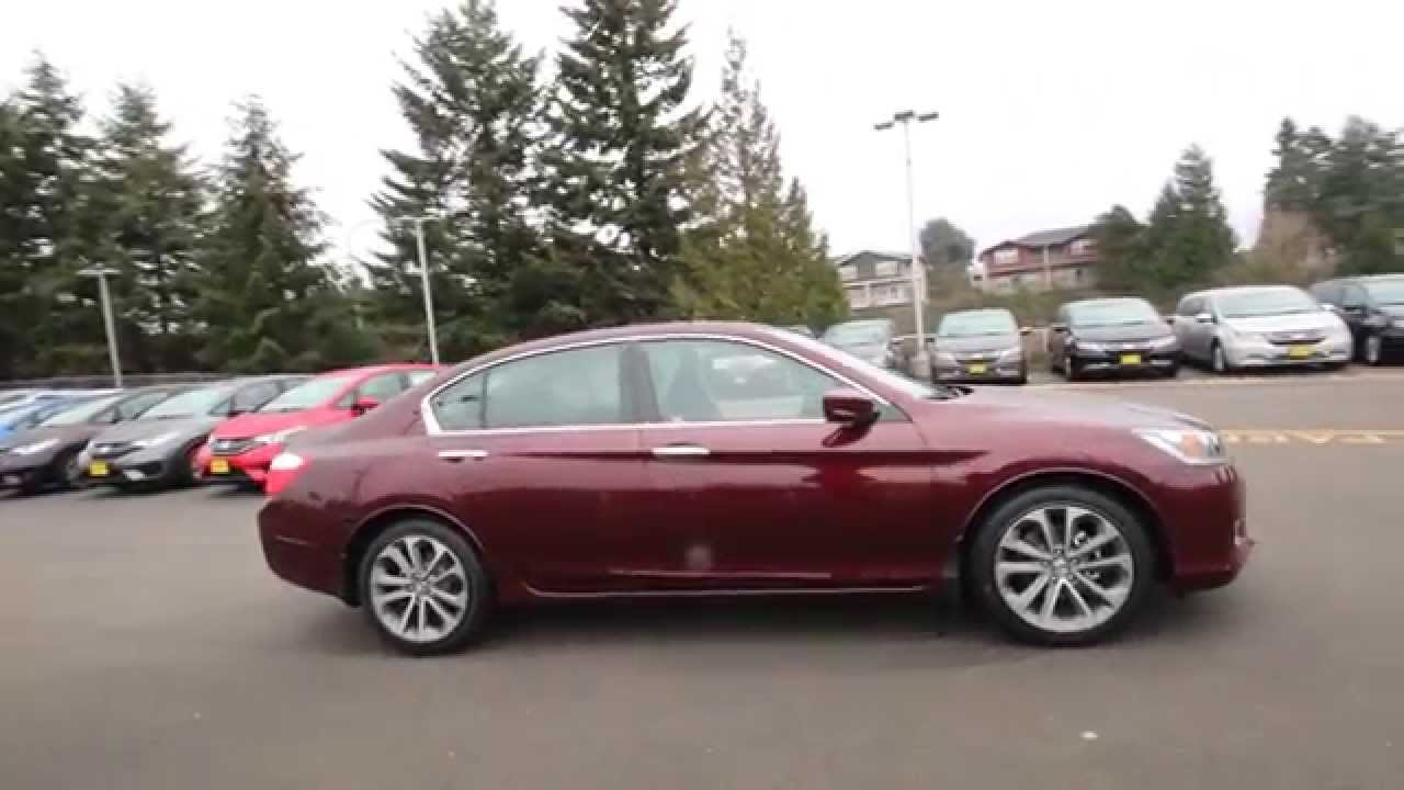 Honda Accord Sport 2013 >> 2015 Honda Accord Sport | Basque Red | FA070047 | Seattle | Renton - YouTube