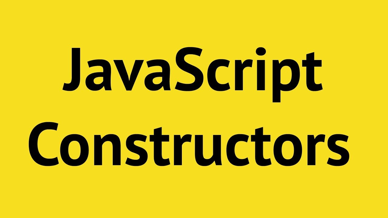 JavaScript Constructor Functions. IN JUST 6 MINUTES!!!
