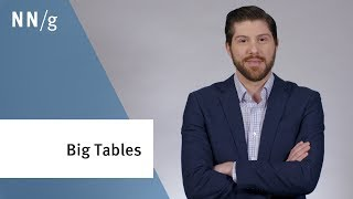 Designing Tables for Desktop Apps with Lots of Data