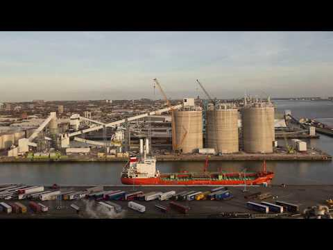 Time lapse construction of the Port of Liverpool Biomass Terminal