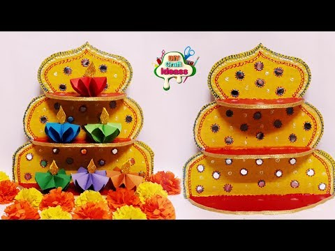 FESTIVE DECOR IDEAS YOU CAN DIY | Festive decoration paper diya idea