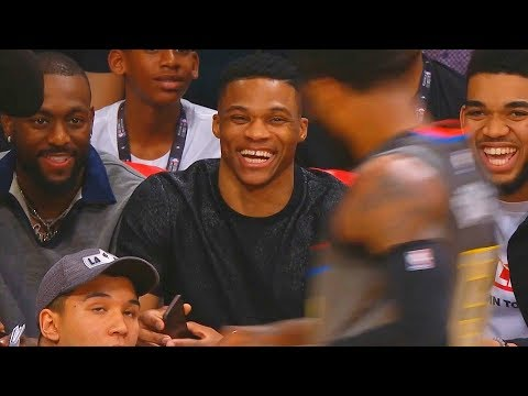 Russell Westbrook Laughs at Paul George For Missing 3 Pointers in the 2018 NBA 3 Point Contest!