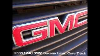 2006 Gmc 3500 Landscape, Lawn Care Truck With Custom Dovetail Ramp