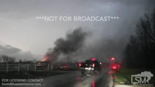 03-09-2017 Aurora, Missouri  - Lightning Induced House Fire