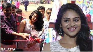 Meyaadha Maan Actress Indhuja@Inauguration of SSM Water World