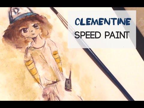Clementine Twd Fanart Water Colour Speed Paint