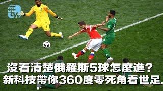 沒看清楚俄羅斯5球怎麼進?新科技帶你360度零死角看世足(《華爾街電視新聞》2018年6月15日)