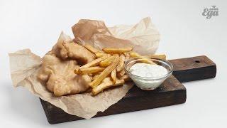 Традиционные фиш-энд-чипс. Британский рецепт с пивным кляром
