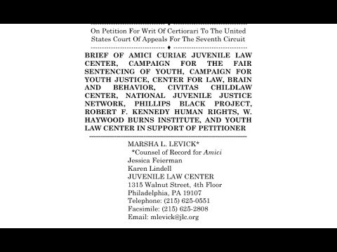 Revisisting The SCOTUS Amicus Briefs: The Juvenile Law Center Brief