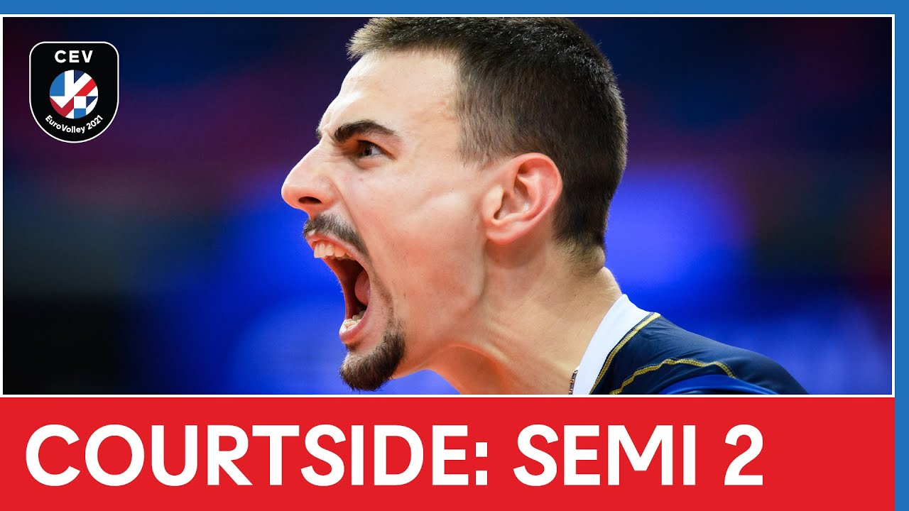 Courtside: Italy down Serbia to secure final spot! | #EuroVolleyM