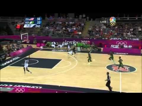 USA vs Nigeria Basketball 2012 Highlights Breaking records