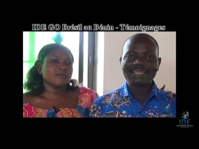 Testemunho Anne Marie e Gbagudi - Projeto Benin  - IDE GO