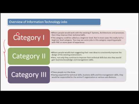 Recruiter Training - IT for IT Recruiters - Overview of IT Jobs (Video 3)