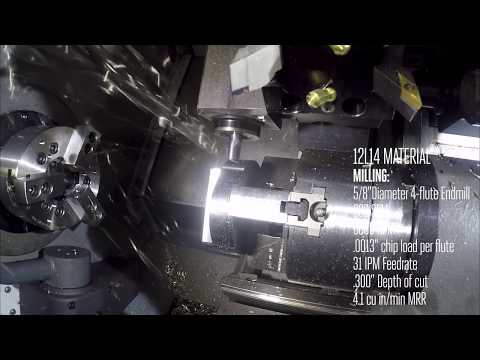 Haas ST-10Y Finishing Spindle Cutting Demo - Haas Automation, Inc.