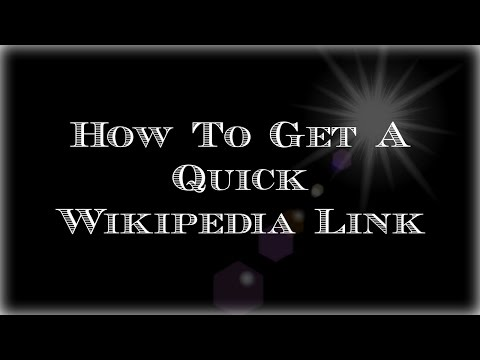 How to get a Quick Wikipedia Link