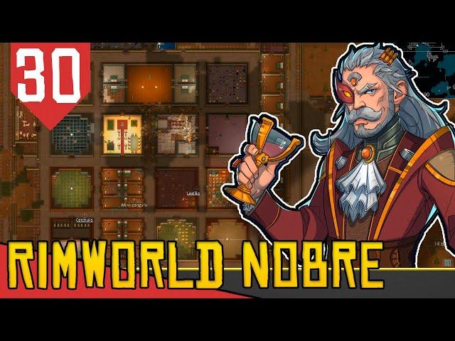Infestação vs Meia Base - Rimworld Nobility Base Aberta #30 [Gameplay Português PT-BR]