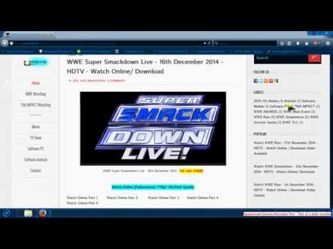 How to direct download WWE Wrestling tv show