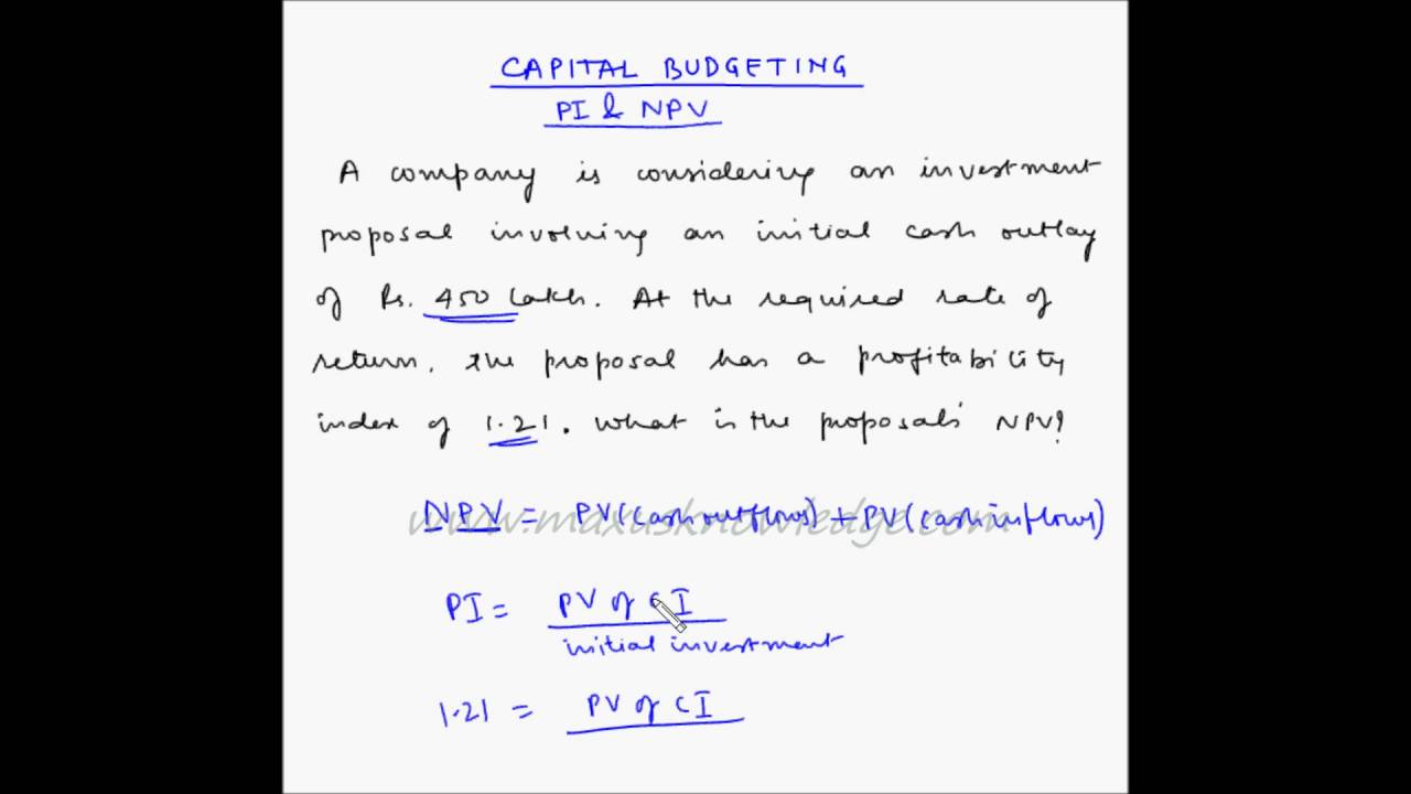 What is the index of profitability How to calculate it 71