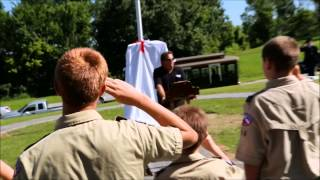 Veterans Monument Dedication Ceremony & Unveiling in Carroll Memory Gardens, Carrollton, Missouri.