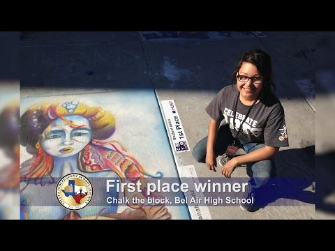 Bel Air High School students participated at Chalk The Block
