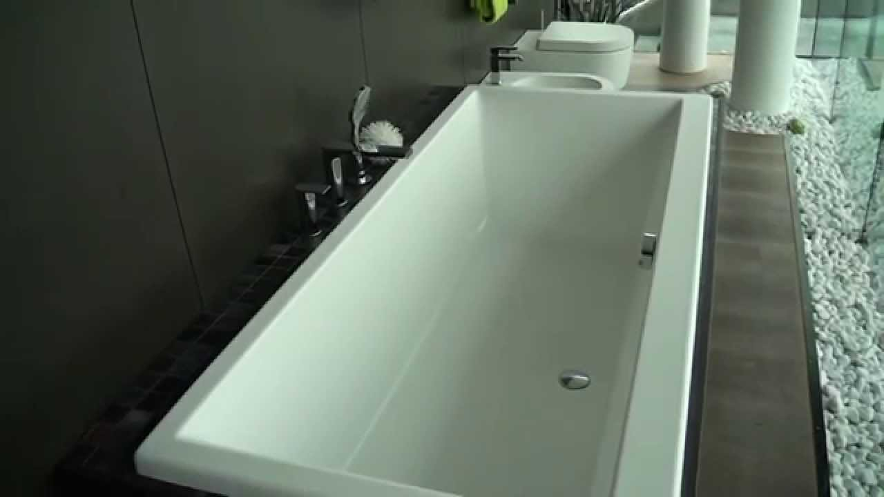 genf badewanne solotu armaturen link wc bidet wei matt youtube. Black Bedroom Furniture Sets. Home Design Ideas