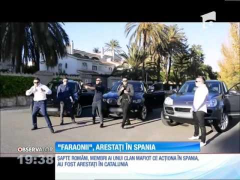 Interlopii din clanul Faraonii, arestați în Spania
