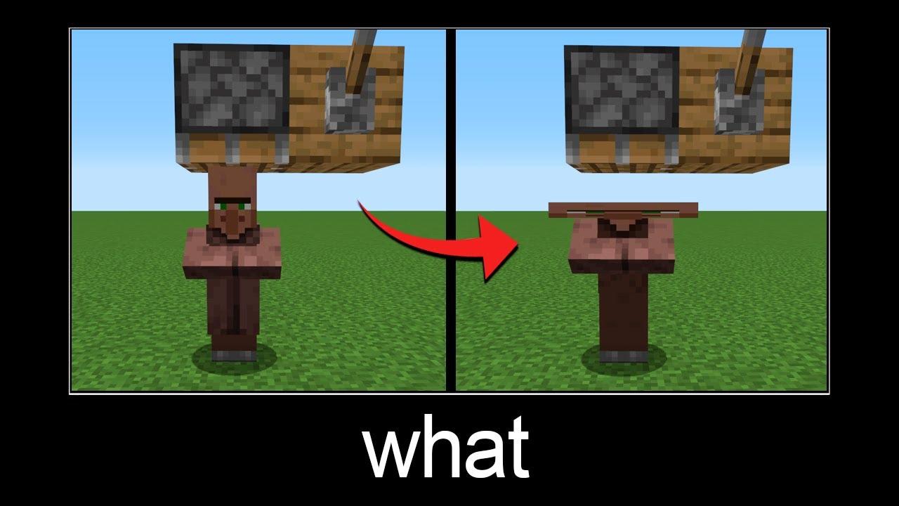 Minecraft wait what meme part 71 (crushed villager)