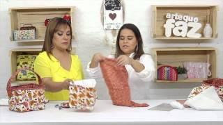 Cestinha em tecido – por Renata Herculano