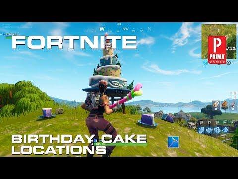 Fortnite Birthday Cake Locations - All Birthday Cakes