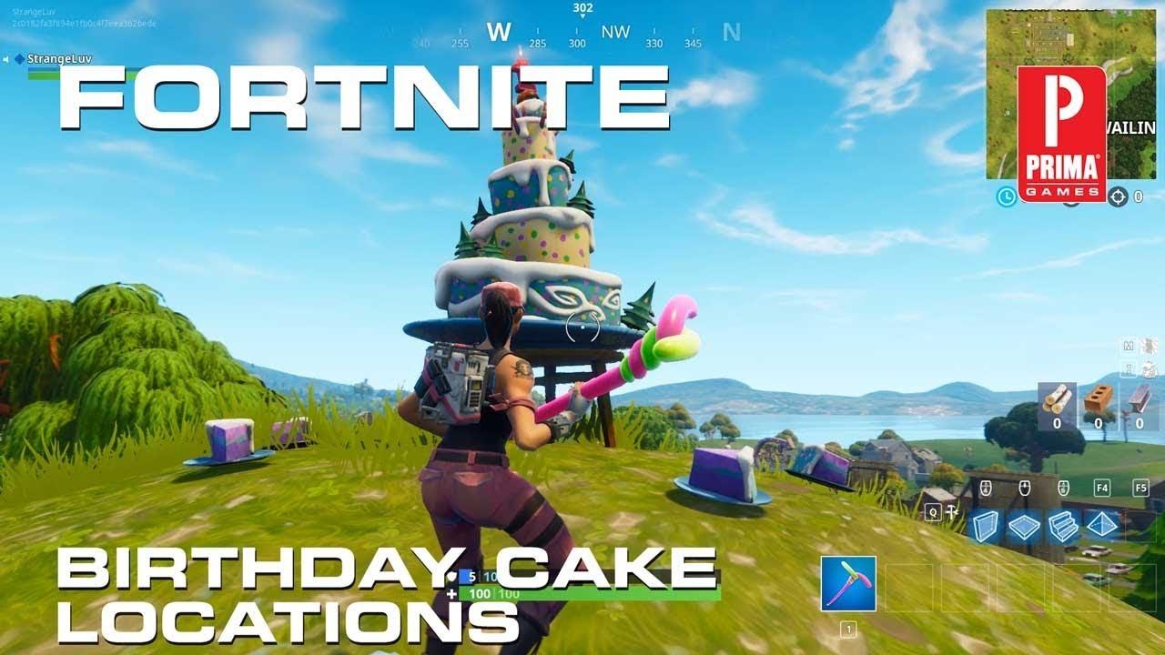 Fortnite Birthday Cake Locations All Birthday Cakes Youtube