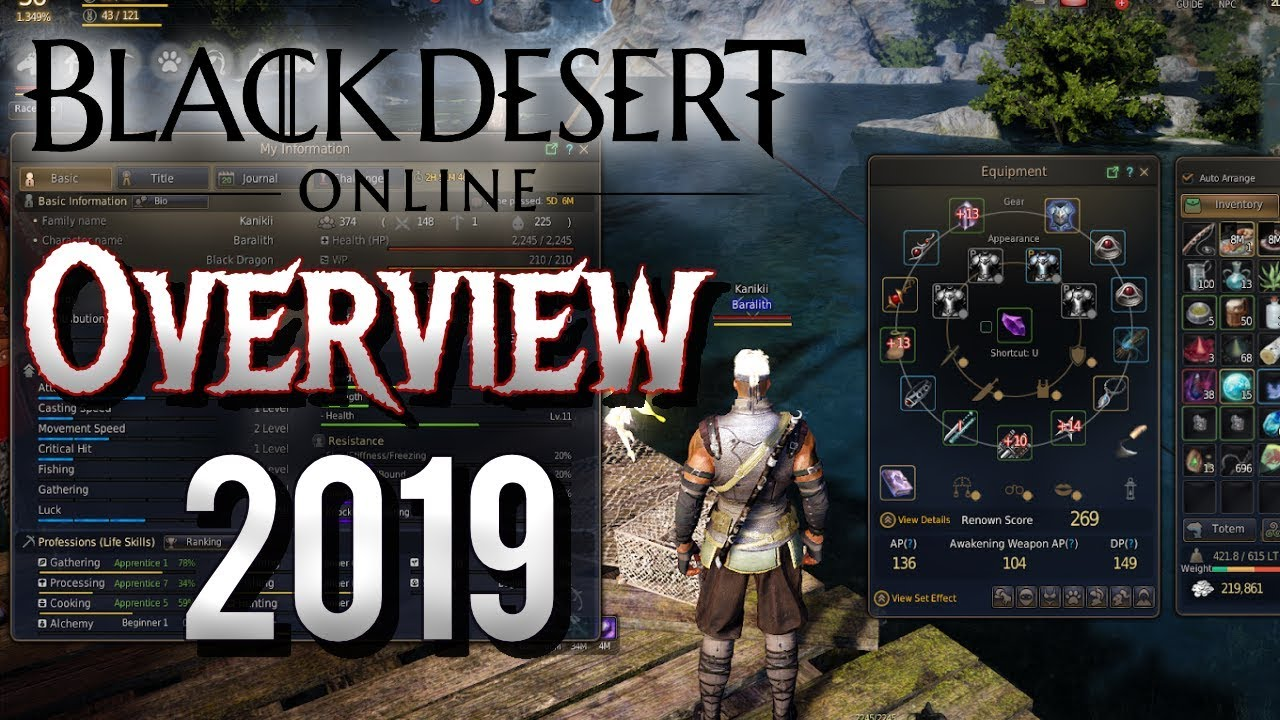 Black Desert Online Character Creation & Game Overview - 2019