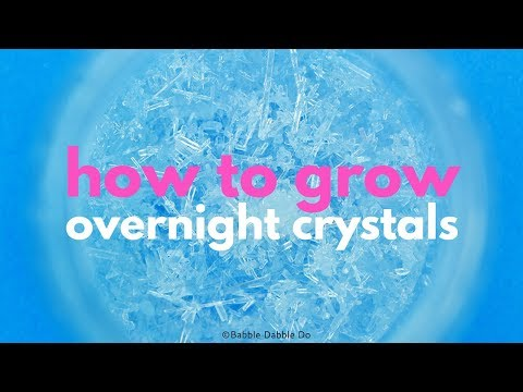 How to Grow Crystals Overnight