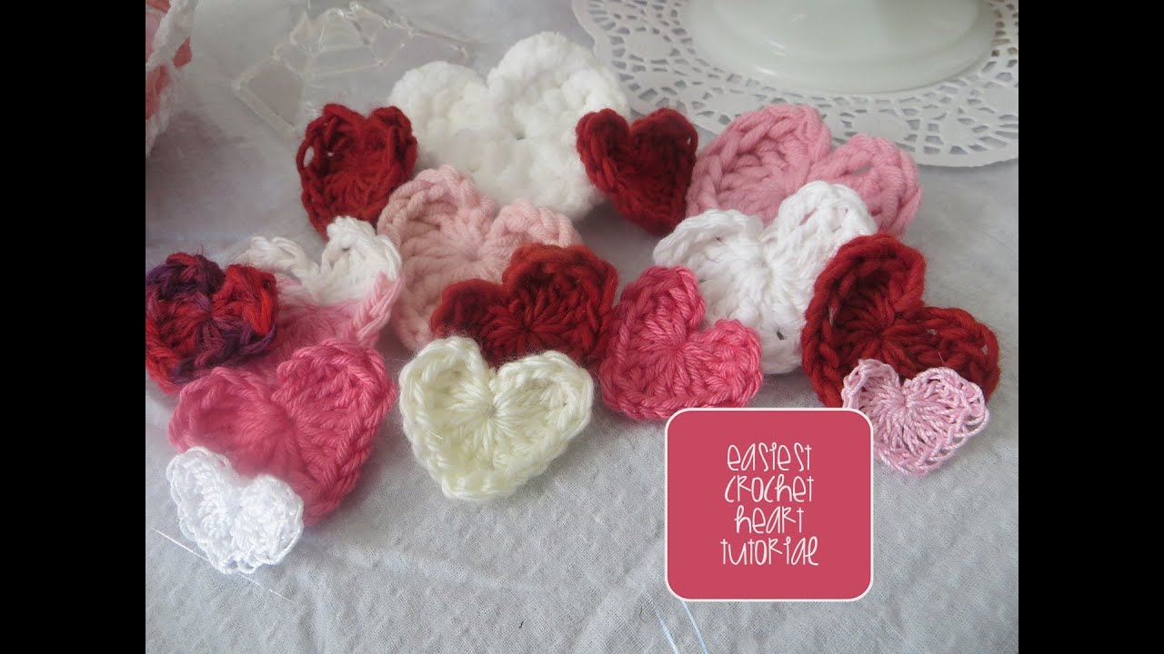Chic and Cheap: Easiest Crochet Heart Tutorial - YouTube