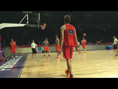 Nikada iz bližeg ugla nećete videti kako Pau Gasol cepa mrežice na treningu #EuroBasket2017