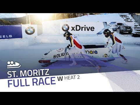 St. Moritz | BMW IBSF World Cup 2017/2018 - Women's Bobsleigh Heat 2 | IBSF Official