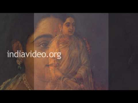 The Bashful lady by Raja Ravi Varma