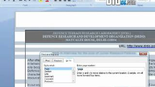 How to Delete a single page of content Document in Microsoft Word 2007