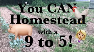 Homesteading with a Full Time Job