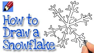 How to draw a Snowflake Real Easy