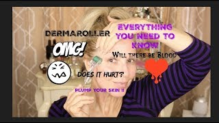 DERMA~ROLLER for PLUMPED Skin!! HOW TO!!