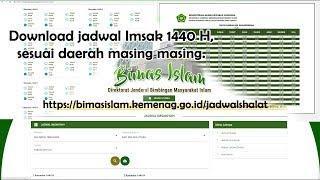 Gambar cover Download jadwal puasa Imsakiyah Ramadhan 1440 H