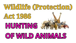 Hunting of wild animals in the Wildlife Protection Act 1972 | Chapter 3 of Wildlife Protection Act