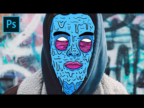 Grime Art Photoshop Tutorial - How to Make These Gross Portrait Doodles thumbnail
