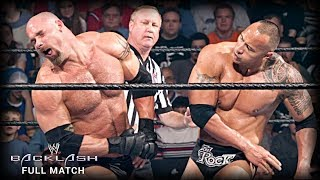 FULL MATCH - Goldberg Vs The Rock: Backlash 2003 (WWE Network Exclusive)