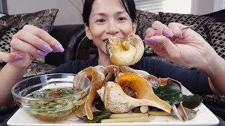 Eating Conch - Tasty Sea Snails   Ăn Ốc Biển Canada