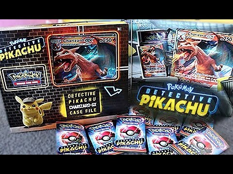Detective Pikachu Charizard Gx Case File Box Opening Youtube