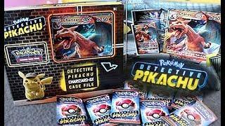 Detective Pikachu Charizard GX Case File Box Opening