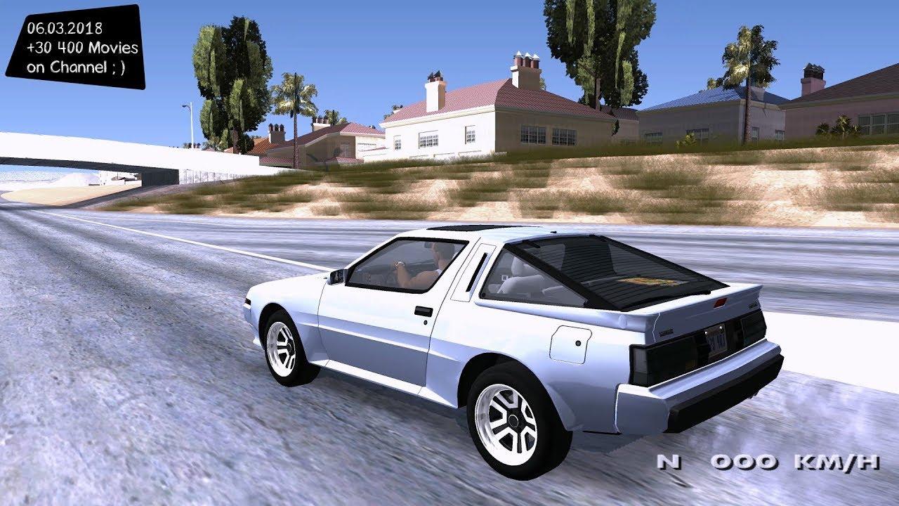 Mitsubishi Starion Esi R Us Spec 1986 110 Grand Theft Auto San Dodge Conquest Andreas Gta Sa Mod