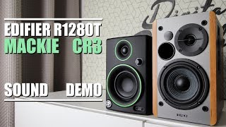 Mackie CR3 vs Edifier R1280T  ||  Sound Demo w/ Bass Test